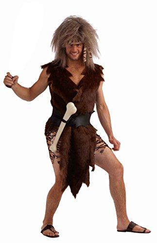 Male Caveman Costume (Forum Novelties Men's Boner The Caveman Novelty Adult Theme Costume, Brown, Standard)