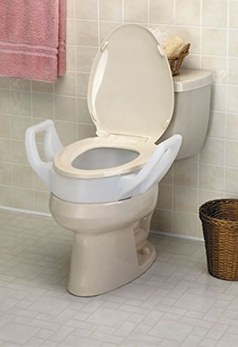 Ableware 725753210 Elevated Toilet Seat with Arms-3 1/2''-Standard by Maddak Inc.