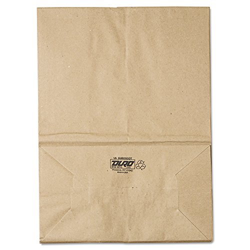 General SK1657 1/6 BBL Paper Grocery Bag, 57lb Kraft, Standard 12 x 7 x 17, (Case of 500 Bags) ()