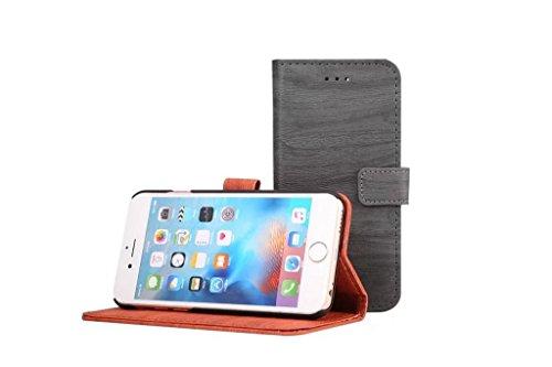 Hülle für iPhone 7 ,Schutzhülle Für iPhone 7 Hölzernes Beschaffenheits-Muster PU-lederner Mappen-Kasten-Abdeckung ,cover für apple iPhone 7,case for iphone 7 ( Color : Rose )