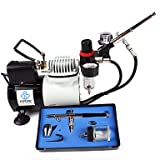 WST Multi-Purpose of Hobby Cake Decation 0.3mm 0.35mm Dual Action Airbrush Kit Set , 110v