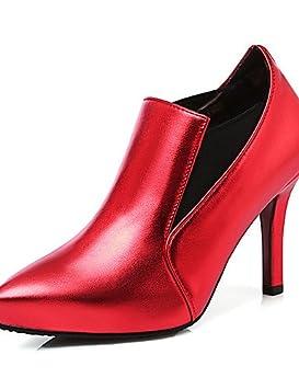d73712ce2 WSS 2016 Zapatos de mujer-Tacón Stiletto-Botines   Puntiagudos-Tacones-Fiesta  y Noche   Vestido-Semicuero-Rojo ...