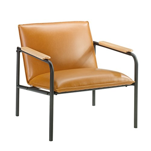"Sauder 422356 Boulevard Café Lounge Chair, L: 26.77"" x W: 28.35"" x H: 26.77"", Camel Finish"