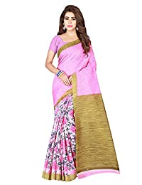 Shonaya Women`S Bhagalpuri Silk Woven Work Saree with Unstitched Blouse Piece