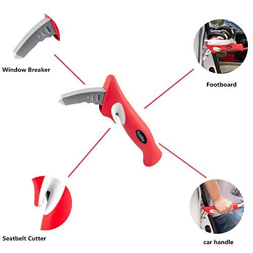 Bastón de coche, manija de coche movilidad, bastón de ayuda de pie, interruptor de cristal: Amazon.es: Coche y moto