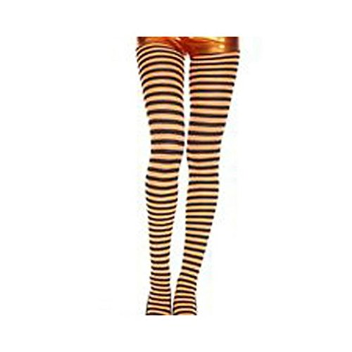 Fancy Face Paint Color Halloween Orange And Black Striped -
