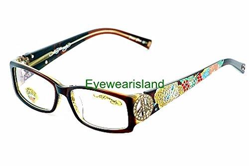 Amazon.com: Ed Hardy Women\'s EHO-715 Designer Eyeglasses Frame ...