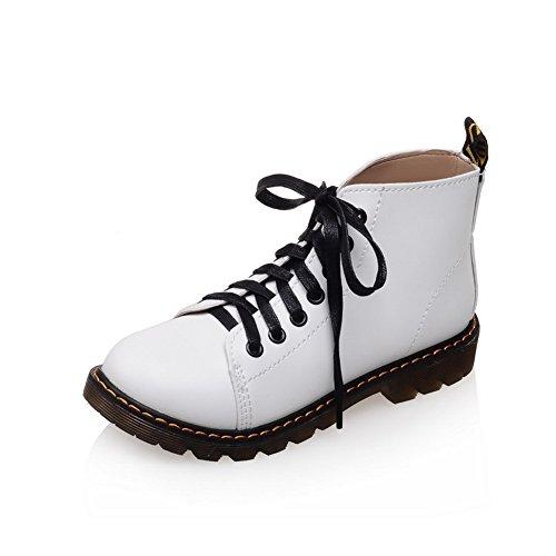 N Girls A Bianco Morbidi Stivali Con Heels Materiale Borsello amp; Square Plateau In 5EErxwqS