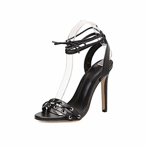 UE e le incrociate Estate tacchi sexy piedi dita ammenda EU YMFIE 39 sandali dei 38 bretelle sottili alti ZwxZFn