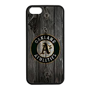 Oakland Athletics Back Design for iPhone 5/5s TPU Case (Laser Technology)-by Allthingsbasketball