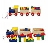Rainbowkids Fun Kids Baby Developmental Toys Toddler Wooden Train Truck Set Geometric Blocks With Free Tracking Information Shipping,For 1-10 Year Kids Boys Girls Playing offers