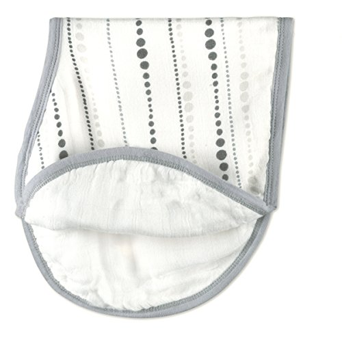 aden + anais silky soft burpy bib, moonlight beads