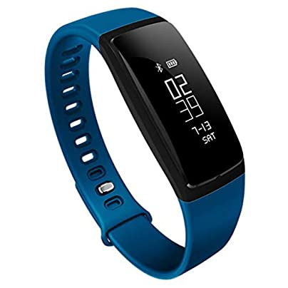 Fitness Tracker Activity Watch with Heart Rate Blood Pressure Monitor Waterproof Wristband Sports Bracelet Step Counter Pedometer with Call SMS Push for Women Men Estimated Price £39.13 -