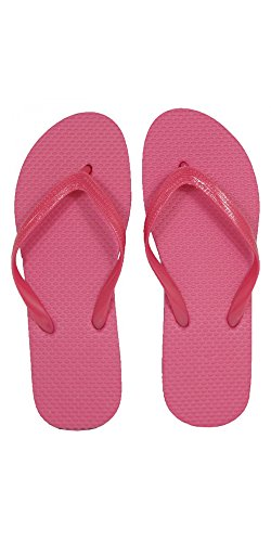 SLR Brands Women's Flip Flops Rubber Thong Flip Flop Sandal For Women (Medium (US 7-8), Pink) (Feet Flip Flops)
