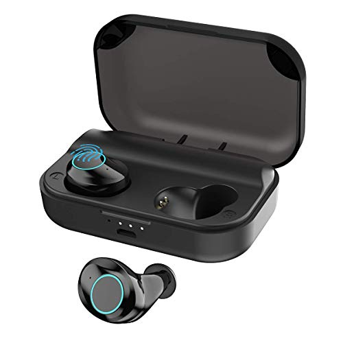 Bluetooth Earbuds Wireless Headphones Bluetooth Headset Wireless Earphones IPX7 Waterproof 96H Playtime Bluetooth 5.0 Stereo Hi-Fi Sound with 3000mAH Charging Case (Black)