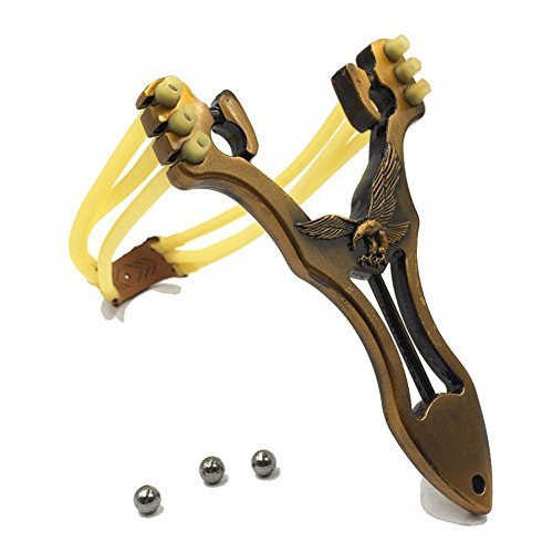 FRIENDLY Slingshot With Quality Rubber Bands Powerful For Outdoor Sport (Hawk)