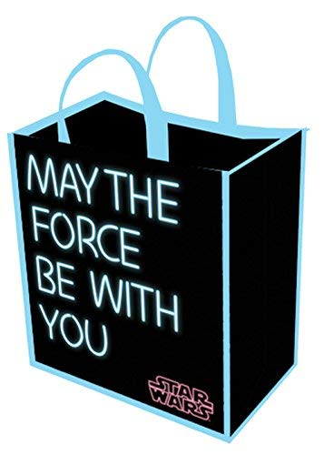 Legacy Licensing Partners Disney: Star War Tote Bag May The Force Be With You Grocery Bag Eco Friendly Reusable Foldable Shopping Bag,Black (Disney Star)