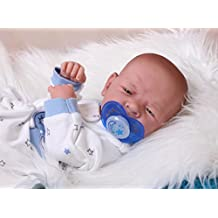 """Baby BOY doll Preemie LifeLike Reborn vinyl Doll anatomically correct weighted 14""""inches excellent gift for children and adults Baby Boy poupée Reborn Prématuré LifeLike vinyle poupée anatomiquement correcte pondérés 14 """"pouces excellent cadeau pour les enfants et les adultes"""