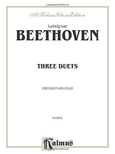 Three Duets for Violin and Cello (Kalmus (Violin Cello Duet Music)