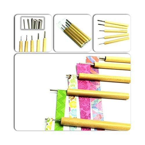 Paper Bead Roller Tool 5-Piece Set Slotted Bead Roller with Digital Instructions from Ground Zero Creations
