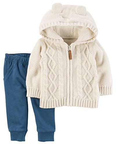 Carter's Baby Boys' 2 Piece Jacket and Joggers Set 18 Months (Knit Carters Set)