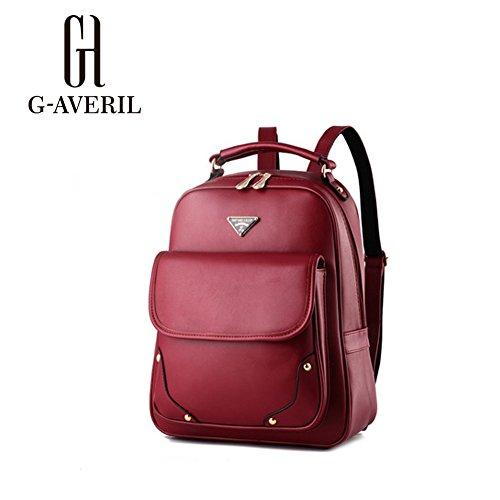 G-AVERIL GA1061-C - Bolso mochila  para mujer azul marino Large rojo vino