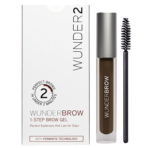 : Wunder2 Wunderbrow Eyebrow Gel Perfect Eyebrows in 2 Mins - Black/Brown