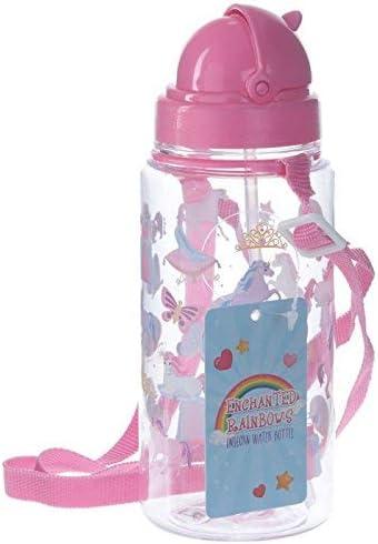 Puckator Enchanted Rainbow Botella Unicornio con Pajita, Rosa