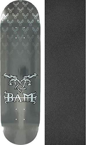 Skateboard Bam Decks Margera (Element Skateboards Bam Margera Heartagram Bam Silver/Silver Skateboard Deck - 8.2
