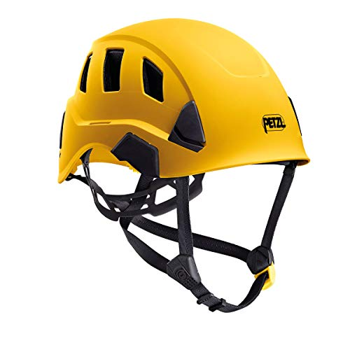 (Petzl Strato Vent Rope Access Rescue Yellow Helmet ANSI OSHA)