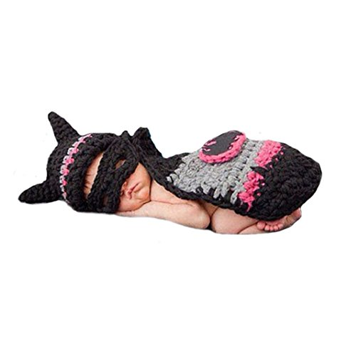 [CX-Queen Baby Photography Prop Batgirl Batman cape cap Mask Outfit] (Baby Batgirl Outfit)