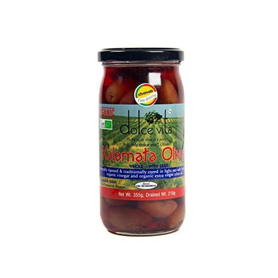 Dolce Vita Organic Whole Kalamata Olives in Brine, 210g