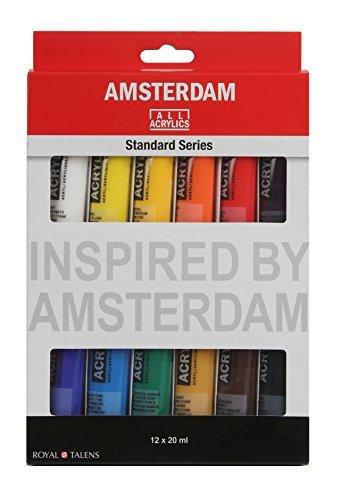 Amsterdam Oil - Royal Talens Gouache Artist Paints, Extra Fine Mixing Set, 20ml-Tubes, Set of 12