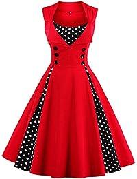 Women 50s Plus Size Christmas Party Retro Vintage Rockabilly Classic A-Line Pinup Cocktail Swing Dresses