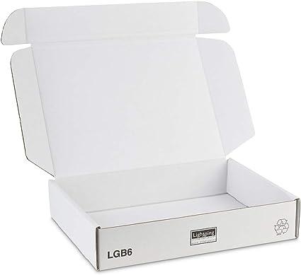 Cajas para envío por correo de color blanco, 360 x 280 x 72 mmPaquete de 25