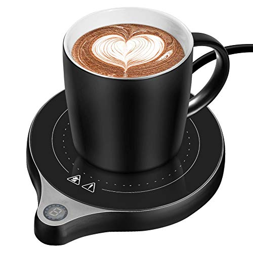 welltop Coffee Mug Warmer, Electric Beverage Warmer with Five Temperature Settings (Up to 212℉/100℃), Coffee Warmer…