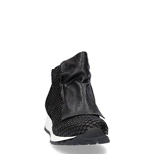 Andia Fora Kelb polacco in pelle nera stampa rettile