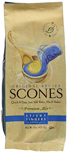Pack of 6, 15 oz Sticky Fingers Bakeries Bulk Scone Mix: Just Add Water Scone Mixes ()