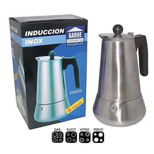 GARHE - Cafetera Induccion Inox 18/10 4 T.: Amazon.es: Hogar