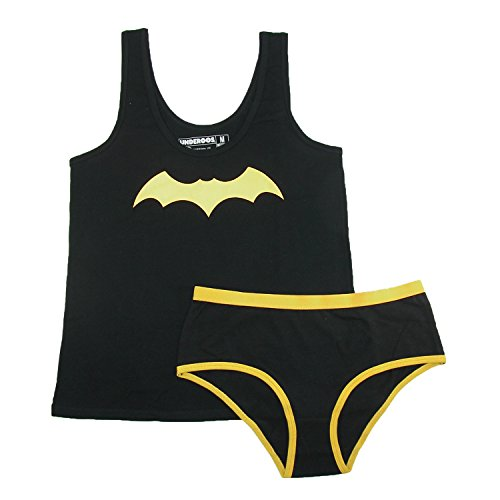 Underoos Womens Juniors Batgirl Tank Underwear Set, Medium, Multi (Womens Batman Underwear)