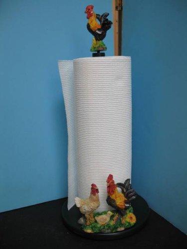 3D rooster Pepper Paper towel holder kitchen decor bar set n