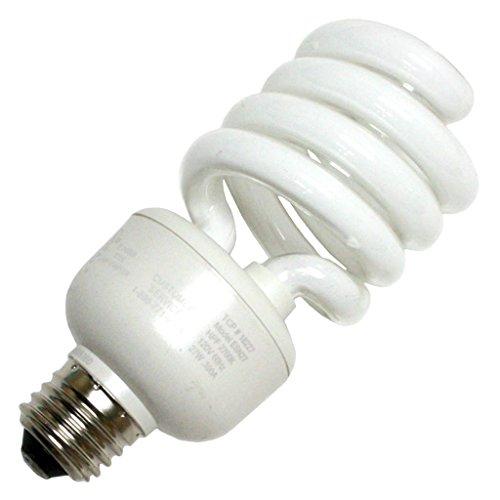 - TCP 18227 CFL Spring Lamp - 100 Watt Equivalent (only 27W used!) Soft White (2700K) HPF Spiral Light Bulb