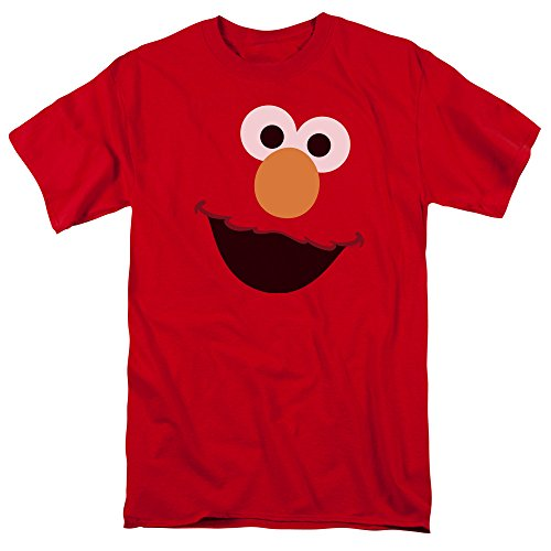 Sesame Street Elmo Face Mens Short Sleeve Shirt(Large) -