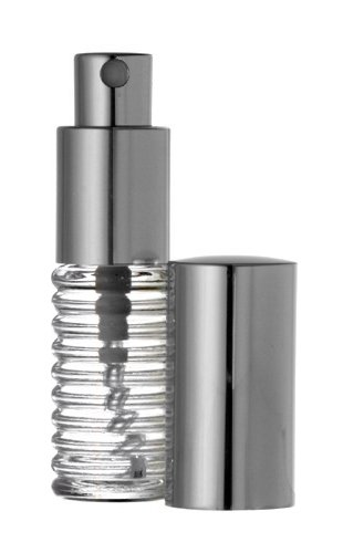 Riverrun Small Travel Perfume Atomizer Empty Refillable Glass Bottle Silver Sprayer 1/4 oz 7.5ml (1 Bottle)
