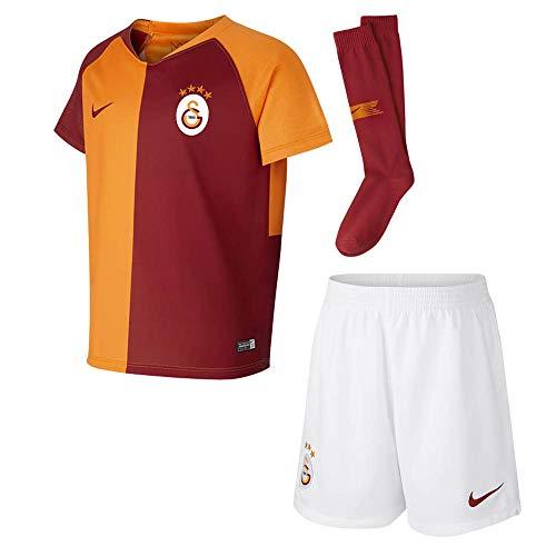 Jersey Soccer Custom V-neck (Nike 2018-2019 Galatasaray Home Little Boys Mini Kit)