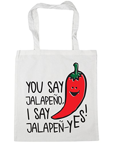 White You Shopping x38cm Tote jalapen 10 say say litres Beach HippoWarehouse 42cm Bag jalapeno yes Gym I aSwA8Sq0d