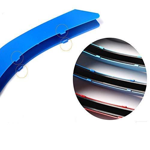 2019 7 Bars Motorhaube K/ühlergrill Streifen Lamellen Eins/ätze Zierklammern M Power Sport Performance Tech Paket Farbe Grill Caps Badge Kompatibel mit B M W X5 F15 X6 F16 2014