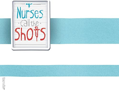 Tervis 1230948 Nurses Call The Shots Tumbler with Wrap and Turquoise Lid 24oz Water Bottle Clear