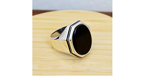 Unique Mens Ring Straight Black Onyx Stone Silver Men/'s Ring,Handmade Ring,Engagement Ring,Adjustable Ring,For Men Jewelry,NUR-4682