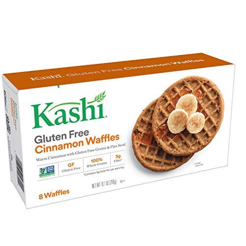 Kashi, Waffles, Gluten Free Cinnamon, Vegan,Non-GMO Project Verified, 10.1 oz (8 Frozen Waffles)